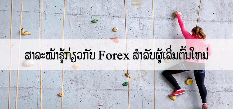 ສາລະໜ້າຮູ້ກ່ຽວກັບ  Forex ສຳລັບຜູ້ເລີ່ມຕົ້ນໃຫມ່
